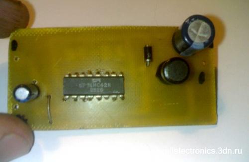 схема понижающего DC DC преобразователя на микросхеме SP74HC42S.  Некоторых случаях на до уменьшить электрический ток...